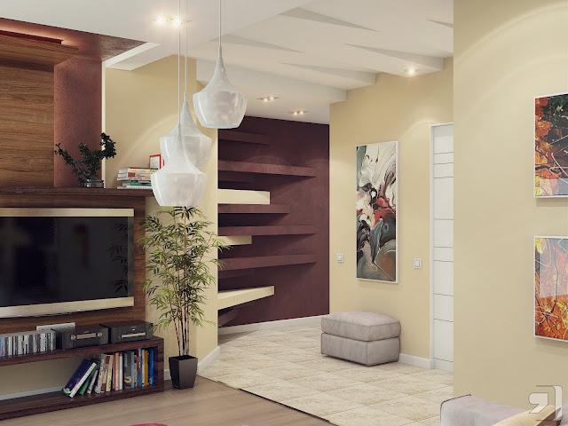 Inšpirácia: béžová◦drevo◦hnedá◦obývacia izba