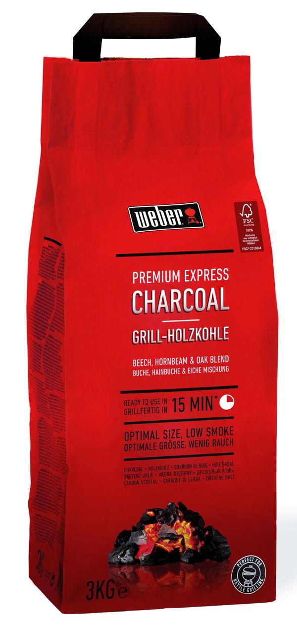 Správne palivo hrá pri príprave grilovaných pokrmov dôležitú úlohu. Grilovacie uhlie Weber Premium Express potrebuje na rozžeravenie iba 15 minút, teplo udrží až 60 minút.