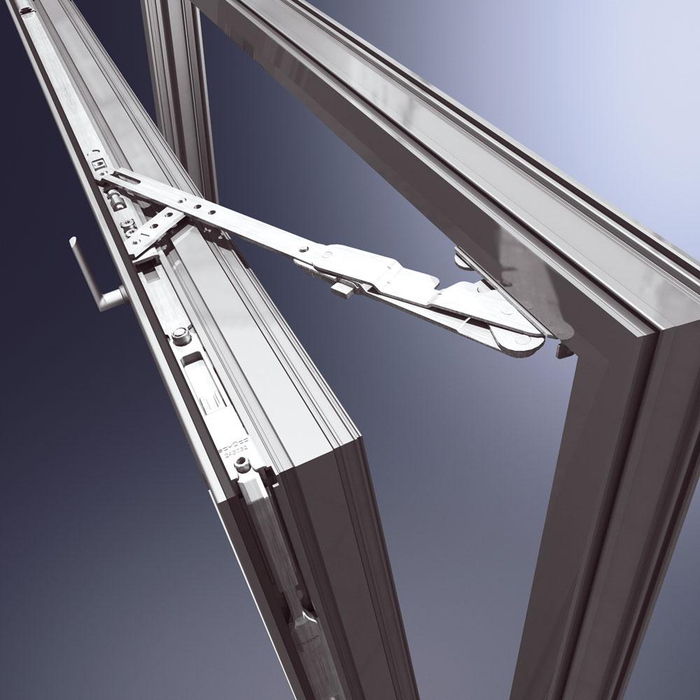 Elegantne skryté kovanie AvanTec sjednoduchou manipuláciou avariabilitou vnastavení. Kovanie možno použiť do hmotnosti okenného krídla až 130 kg. Uhol otvárania je 90 stupňov. Použitie akostnej ocele svysokou odolnosťou proti korózii. Možnosť dodania aj vtriede odolnosti WK3. Vďaka skrytým okenným závesom je povrch hladký, čo značne zjednodušuje čistenie plôch. Malé pohľadové šírky askryté kovanie umožňujú realizáciu čistých kriviek. Vpodobne elementárnom anekomplikovanom dizajne sú navrhnuté aj kľučky, ktoré vroku 2006 získali ocenenie if-Award za produktový dizajn.