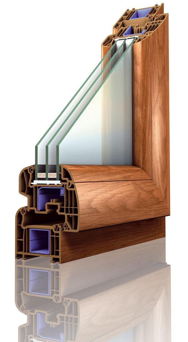 Nové plastové okno Platinum Evolution2 predstavuje ešte väčšiu úsporu energie. Tvar profilu triedyAje zvnútornej strany zaoblený, trojsklo široké 36mm so súčiniteľom prechodu tepla Ug