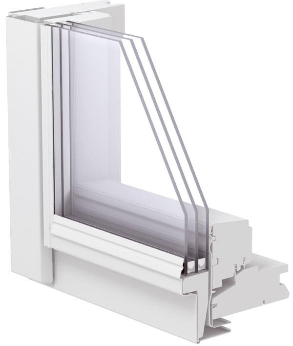 Strešné okná majú špecifické požiadavky na hlučnosť, pretože okno všikmine je vďaka nakloneniu viac vystavené napríklad dažďovým kvapkám. VELUX ponúka špeciálnu úpravu znižujúcu dopadajúci hluk až o7dB. Toto vylepšenie je citeľné, pretože zníženie hladiny hluku vmiestnosti napríklad len o3 dB vníma človek ako pokles hlučnosti ocelú polovicu. Zasklenie60 shodnotou akustického útlmu Rw =37dB je ideálne do hlučných lokalít, ako sú rušné ulice, blízkosť vlakovej alebo električkovej trate či diaľnice. Zasklenie 60 je ideálnym riešením aj vprípade strešných okien orientovaných na južnú stranu, pretože účinne zamedzuje akumulácii slnečného tepla vpodkroví abráni prehrievaniu interiéru.