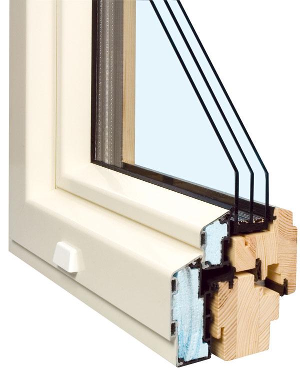 Drevohliníkové okno Exclusive Line 5000s Solar so štvorpolohovou kľučkou (poloha zatvorené, otvorené, mikroventilácia, ventilácia). Tri bezpečnostné body pre jednokrídlové okno apäť bezpečnostných bodov pri oknedvojkrídlovom. Súčiniteľ prechodu tepla Uw=0,73W/(m2 . K) aUg = 0,5 W/(m2 . K). Drevohliníková konštrukcia rámu je navyše bezúdržbová. Vzhľadom na to, že hodnota súčiniteľa prechodu tepla celým oknom Uw musí byť vprípade pasívnych domov aspoň 0,8 W/(m2 . K), spĺňa toto okno nízkoenergetický štandard. Hodnota g udáva, koľko percent slnečného žiarenia prejde oknom dovnútra. Napríklad okná shodnotou g = 50 % prepustia 50percent slnečného žiarenia. Akteda budete chcieť na jar ana jeseň ušetriť za vykurovanie, mali by ste sa snažiť čo najviac vyhriať svoj byt slnečnými lúčmi. Často sa ale môžete stretnúť sponukou okien, ktoré sú zhľadiska izolácie vynikajúce, ale prepustia menej než 40 percent slnečného žiarenia, čo znamená väčšie výdaje na vykurovanie.