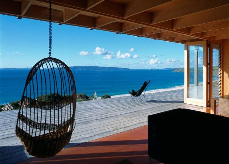 Drevený bungalov s nádherným výhľadom na oceán