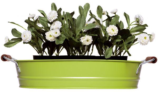 Ak si netrúfate namaľovať črepník podľa svojich predstáv, môžete si zaobstarať podnos na rastliny Socker, 4,99€