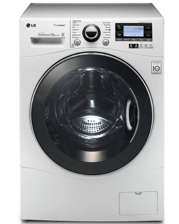 Parná práčka LG Electronics F 1495BDS skapacitou 12 kg. Energetická trieda A+++, 1400 ot./min, LCD displej, spotreba: energie 222 kWh/rok, vody 12200 l/rok, hlučnosť 55/70 dB, Direct drive motor (10-ročná záruka), 6 Motion (šesť pracích pohybov na efektívne pranie arozloženie pracieho prostriedku), duálne sprchovanie (parné pranie + priame sprchovanie), Smart Diagnosis, Fuzzy Logic, automatické váženie avyváženie, nulová spotreba vrežime Stand by, Aqua Lock, programy: Refresh, Allergy care, antialergické pláchanie, čistenie bubna.