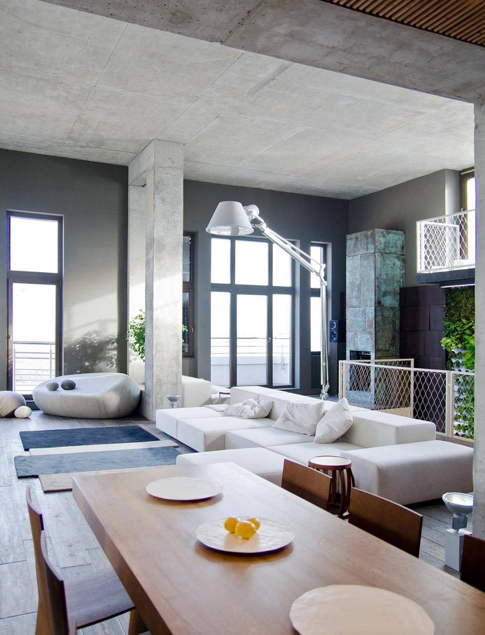 loftový apartmán v Kyjeve – praktický a útulný