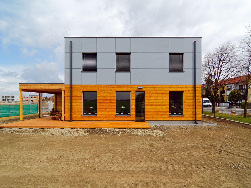 Typový dom v Čunove postavený v pasívnom štandarde