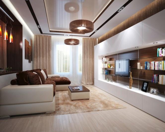 Inšpirácia: béžová◦biela◦hnedá◦obývacia izba