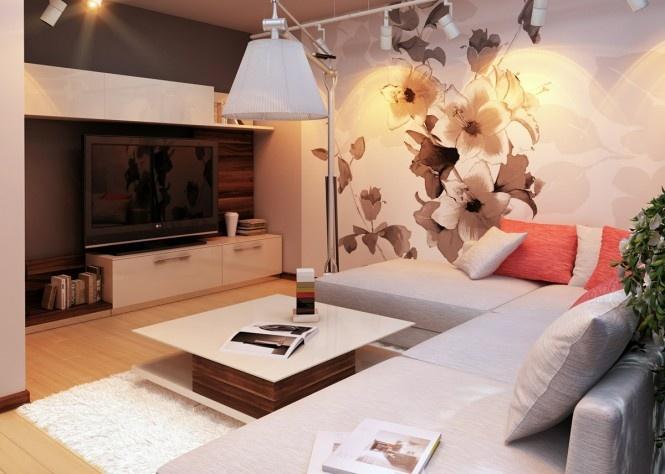 Inšpirácia: biela◦hnedá◦obývacia izba