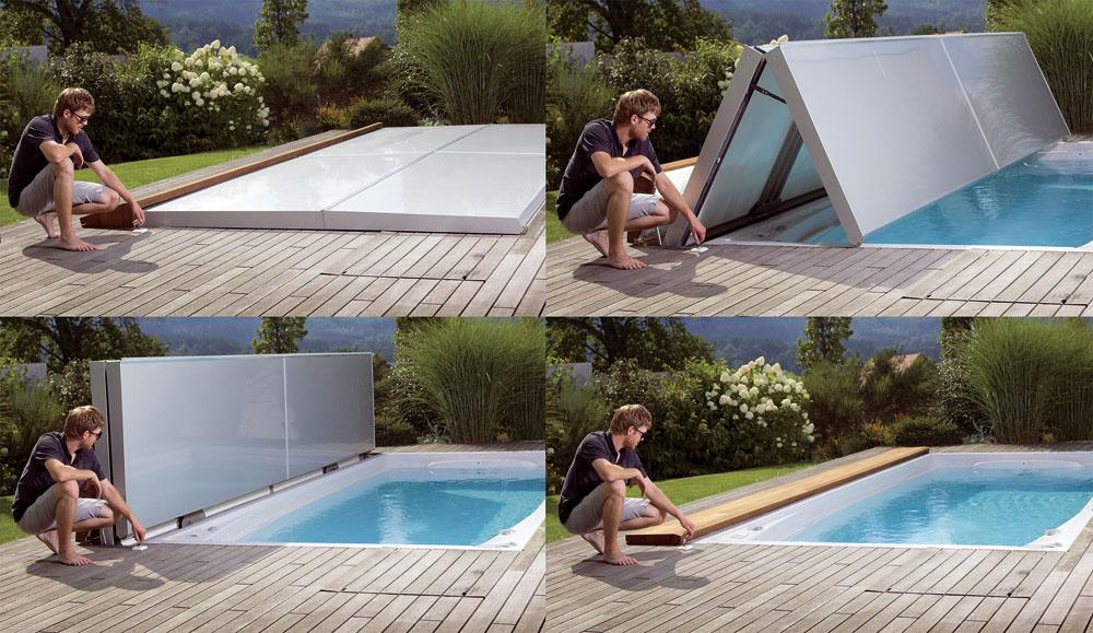 Pre väčšie Swim Spa je určená novinka – automatický zdvihák, ktorý funguje podobne ako strecha kabrioletu. Bazén tak môžete odkryť aj zakryť stlačením gombíka. Zaujímavú novinku predstavila spoločnosť USSpa, český výrobca masážnych bazénov, na tohtoročnom Stavebnom veľtrhu vBrne, kde si získala uznanie vpodobe Zlatej medaily SHK 2012.