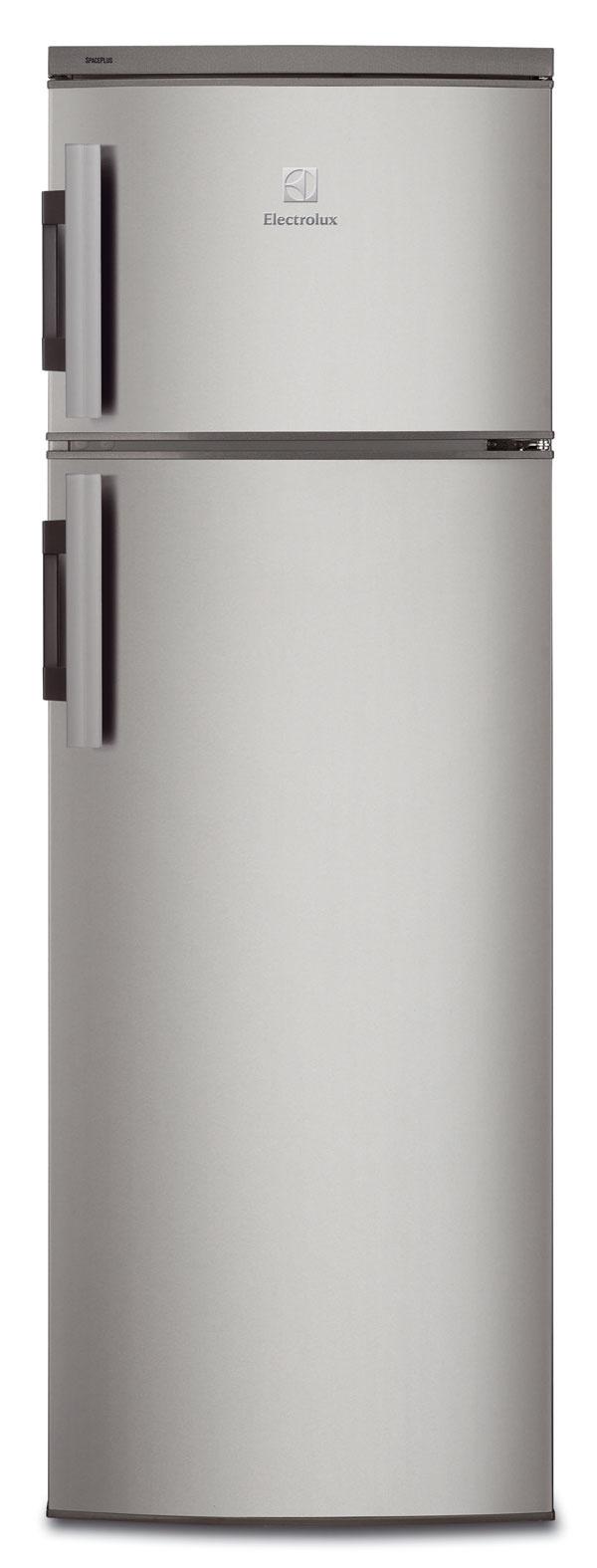 Electrolux EJ2801AOX vatraktívnom antikorovom šate sa bude dobre vynímať vkaždej modernej kuchyni. Ide onetradičnejšie, no rovnako obľúbené vyhotovenie chladničky smrazničkou, ktorá sa nachádza vhornej časti. Mraznička ponúka 44 l priestoru, chladnička 4× toľko. Spotrebič patrí do energetickej triedy A+. Cena 409 €.