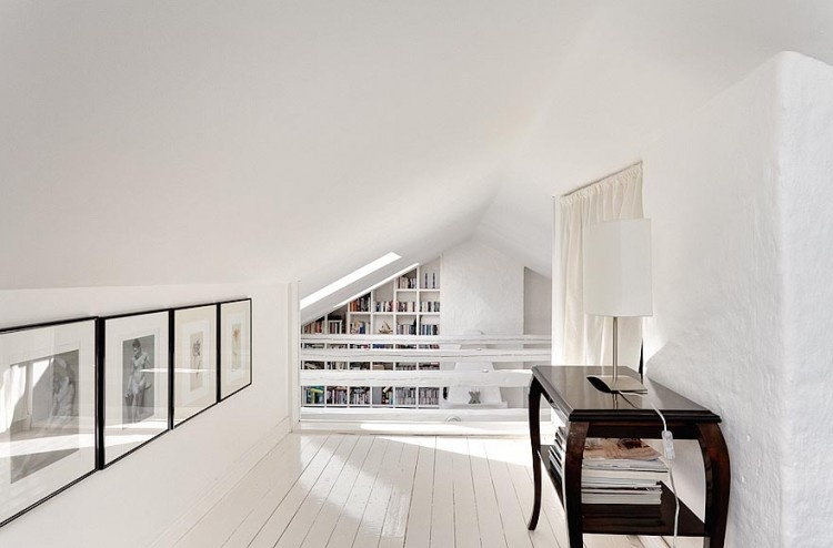 Podkrovný byt vo Švédsku alebo Štokholm z vtáčej perspektívy