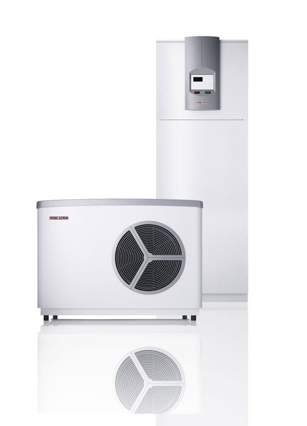 Pri malých nárokoch na miesto sa odporúča nasadenie tepelného čerpadla vzduch|voda WPL 10 AC v spojení s modulom zásobníka HSBB 10 AC, vrátane 200-litrového zásobníka pitnej vody na prípravu teplej vody.
