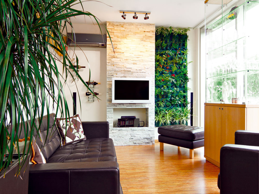 Vegetačná stena – izbová zeleň takmer bez nároku na priestor