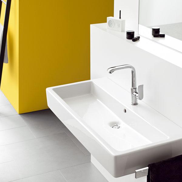 Spoločnosť Hansgrohe ponúka batérie rozličných výšok a rozmerov pre rôzne veľkosti a typy umývadiel. Nestane sa vám tak, že voda bude striekať všade naokolo.