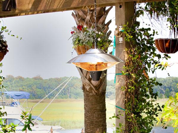 Elektrické ohrievače vás na jesennej terase zahrejú