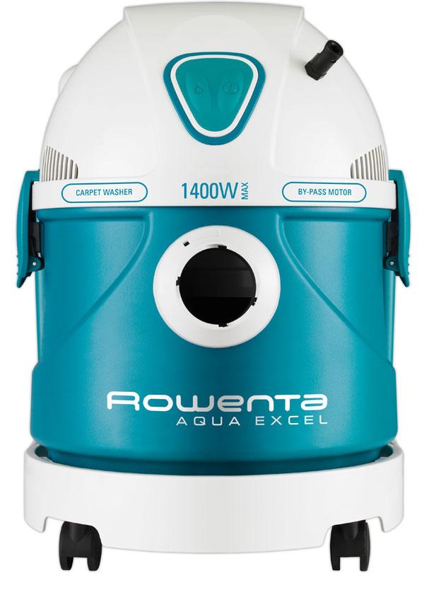 Čistič kobercov Rowenta RU631201 Aqua Excel Carpet Washer 3 in 1 na suché amokré vysávanie, vákuové čistenie kobercov, čalúnenia, hladkých podláh askiel, sfunkciou fúkania vzduchu. Príkon 1 400 W, sací podtlak 21 kPa, kapacita zásobníka 9/14 litrov, hlučnosť 84 dBA, By-pass motor, filtrácia, dvojitá nádrž na šampón avodu. Cena 249,90 €.