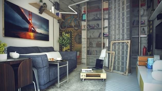 Jednoduché moderné bývanie pre mužov bez záväzkov