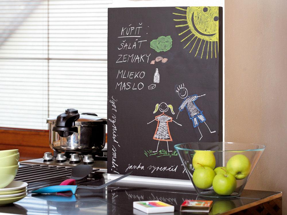 Vyrobte si domácu tabuľu na písanie či kreslenie