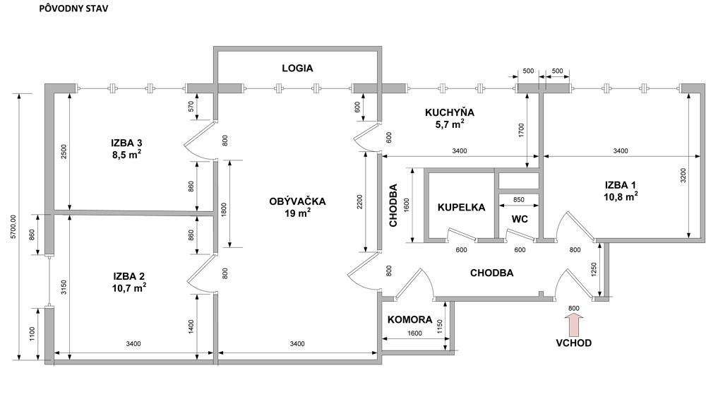 Pýtate sa na dispozičné riešenie 4-izbového panelákového bytu