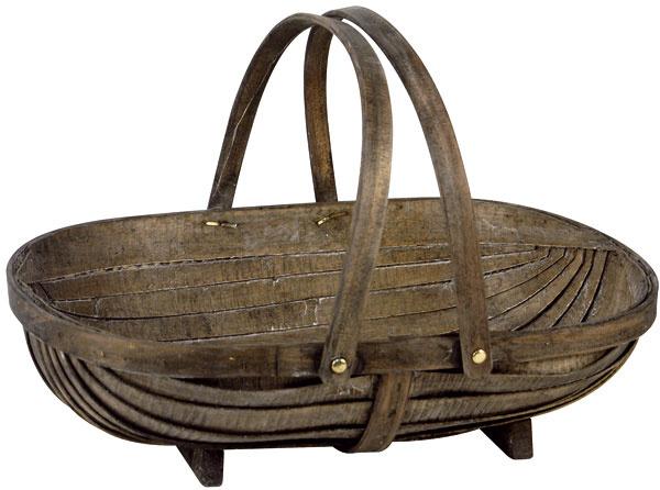 Krásny široký drevený kôš Eliza ztenkých plátov dreva. Dá sa použiť ako luxusný nákupný košík alebo na uloženie ovocia či zeleniny. Rozmery: 49 × 36 × 10 cm. Cena: 14,48 €. Predáva: www.bellarose.sk.