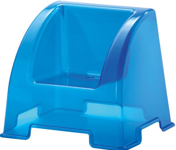 Detské kreslo IKEA PS 2012 zpolypropylénového plastu. Vďaka vysokej stabilite anižšie položenému sedadlu je stolička vhodná aj pre menšie deti. Ačo je jej veľká výhoda  Po ušpinení ju stačí jednoducho utrieť. Rozmery: 44 × 38 × 37 cm. Cena: 15,99 €. Predáva: IKEA.