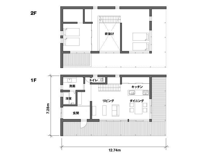 moderné bývanie v otvorenom priestore
