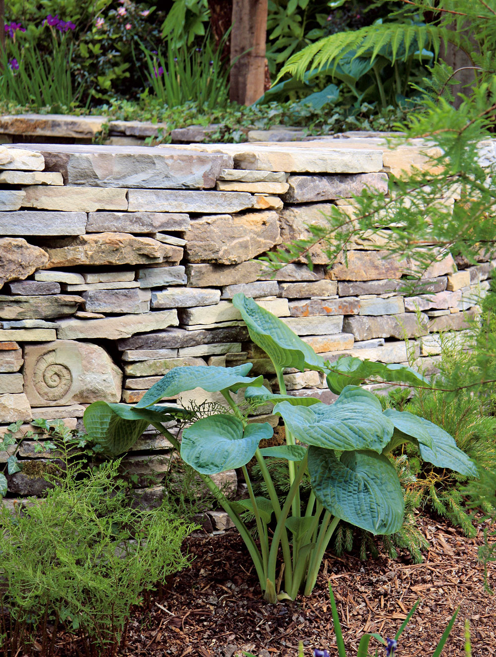Kameň Tak ako drevo, aj kameň pôsobí vzáhradnom priestore prirodzene anavodzuje pocit harmónie. Veľmi dobre sa dopĺňa srastlinami avodou. Kameň možno použiť pri stavbe nižších ajvyšších múrikov, na dláždenie, ako dekoračný prvok, uplatní sa aj vskalkách či ako solitér vtrávniku apri vodných prvkoch. Odporúča sa použiť len jeden druh kameňa.