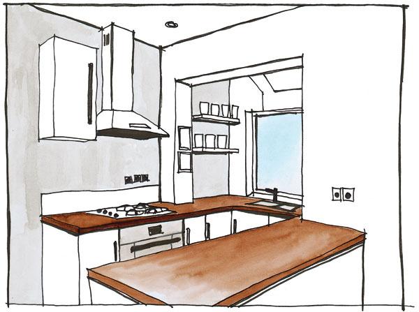 Zlodžie kuchyňa Niektoré šťastné kuchyne vpanelákoch majú loggiu. Ak ju naplno nevyužívate, môžete ju (samozrejme, až po súhlase stavebného úradu!) zatepliť apripojiť ku kuchyni. Získate priestor, ktorý sa dá využiť ako pracovná kuchynská časť alebo jedáleň. Ak bude pracovná plocha pokračovať až pod okno, zaistíte si pri práci množstvo prirodzeného svetla. Do tohto priestoru je vhodné umiestniť aj kuchynský drez. Ak je však okno príliš nízko, treba voliť sklápaciu kuchynskú batériu, aby ste ho mohli občas aj otvoriť. J Ani vtakomto prípade však nezabudnite na umelé osvetlenie umývadla, napríklad na lampu sposuvným ramenom. krasba: Jana Macinská