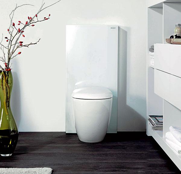 Nový šat WC nádržky – elegantnejší, anajmä priestorovo úspornejší Geberit Monolith
