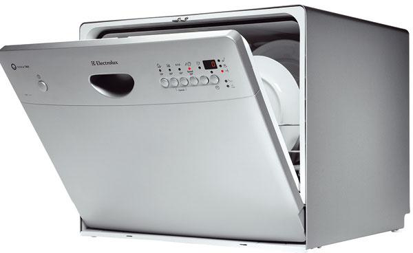 Kompaktná umývačka riadu Electrolux ESF2450S, kapacita 6 súprav, nemusíte čakať dlho, kým ju naplníte, spotreba vody 7 l, energetická trieda A,529 €