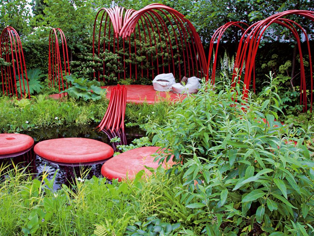 Záhrada inšpirovaná srdcom a krvným obehom