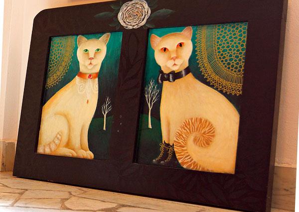Aj vzahraničí známa mačacia aristokracia sa pýši na plátnach mamy Danky Polákovej.