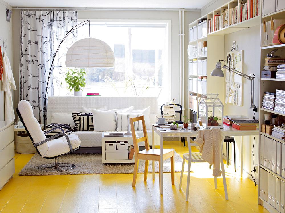 Keď sa sfarbí podlaha. Aj keď sa steny belejú, vaša podlaha rozžiari svojou farbou celý priestor.
