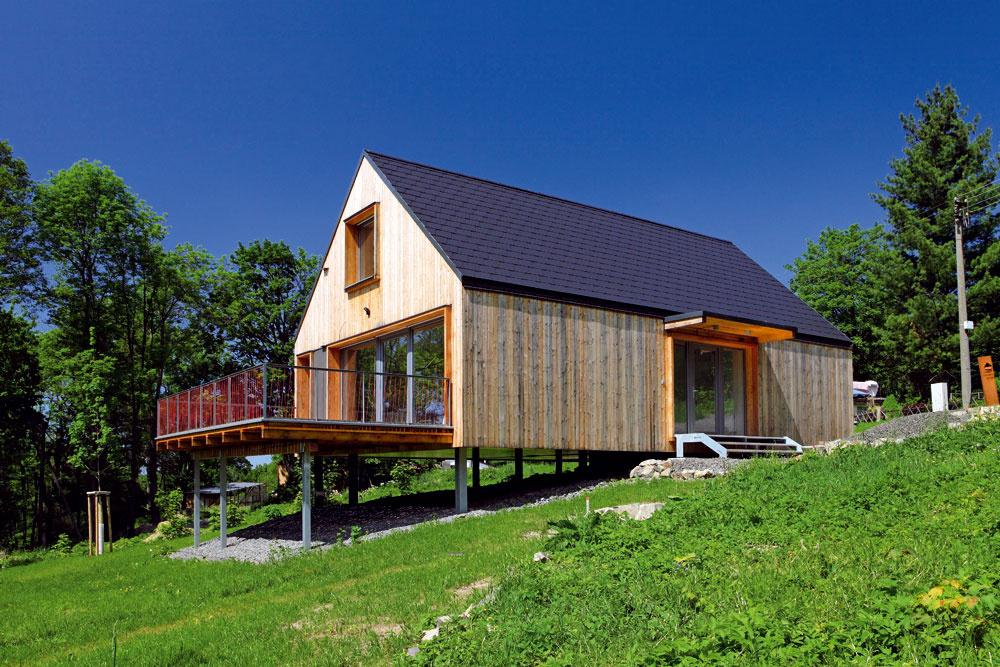 """Domesi Concept House, ako vidno, praktizuje """"mnohonožstvo"""". Pre krytú časť pod terasou sa ešte len hľadá uplatnenie."""
