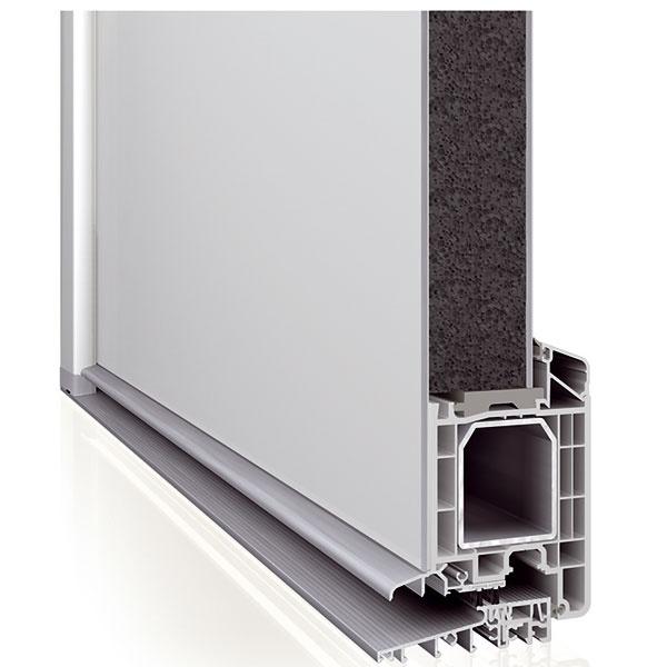 Profil Eforte so štandardnou stavebnou hĺbkou 84 mm pri použití bežnej oceľovej výstuže abez prídavných izolačných prvkov dosahuje výborný koeficient tepelnej vodivosti rámu Uf = 0,95 W/(m2 . K). To znamená, že je vhodný pre pasívne domy. Profil získal certifikát nemeckého Inštitútu pre pasívne domy Dr. Feista vDarmstadte.