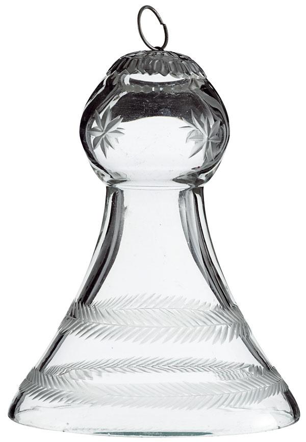 Ozdoba Crystal zbrúseného skla vtvare zvončeka. Ideálna na vianočný stromček. Cena 7,57 €. Predáva bellarose.sk.