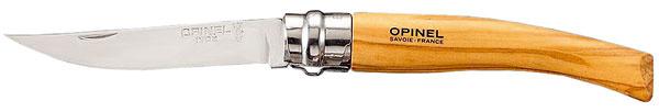 Praktický nôž Opinel sdrevenou rúčkou. Cena 23,50 €. Predáva Potten & Pannen.