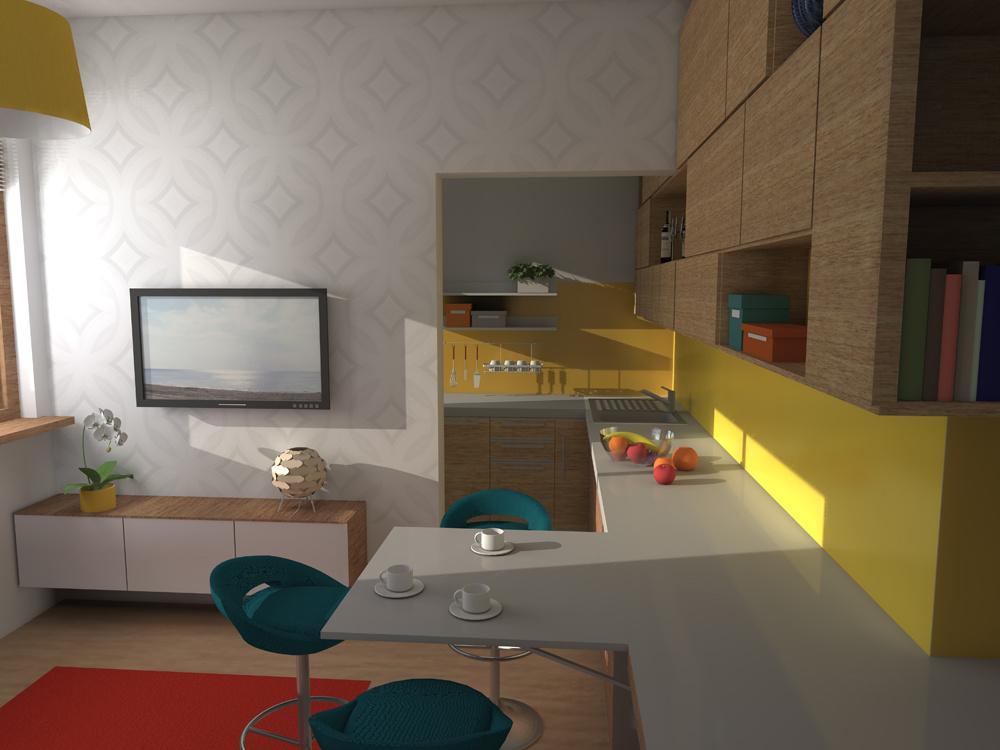 Efektívny návrh 2-izbového bytu o rozlohe 55 m štvorcových