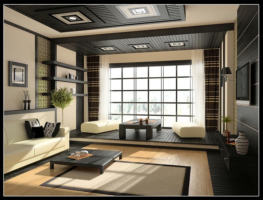Inšpirácia: béžová◦čierna◦drevo◦obývacia izba