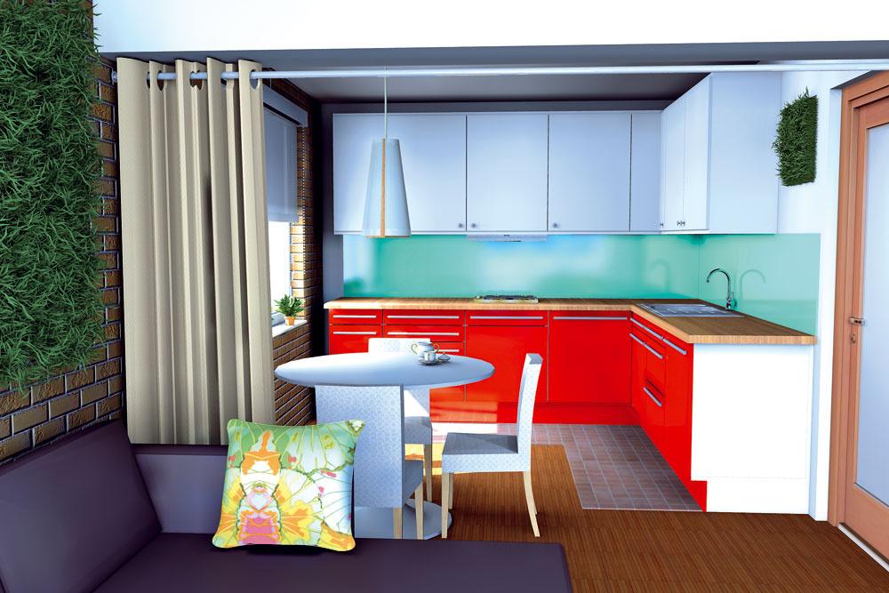 Alternatíva B: Pohľad na kuchyňu