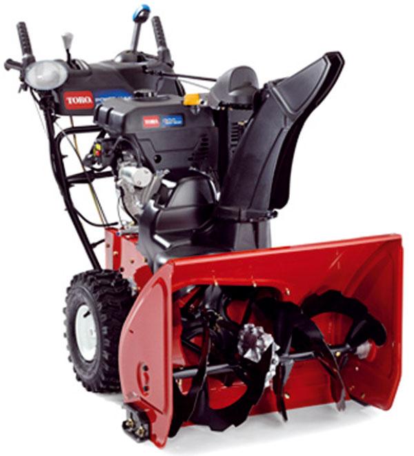 Dvojstupňová fréza Power Max HD 928 OXE, motor Toro, výkon 9 koní, systém Free Wheel na jednoduchšiu manipuláciu, ovládanie Quick Stick, prevodovka 6 + 2R. Účinne odstraňuje aj zamrznutý sneh, záber 71 cm, kapacita 998 kg/min. Cena 2 740 € (+ akcia, zákazník má možnosť tankovať 1 500 litrov paliva za 0,75 €/liter). Predáva Mountfield.