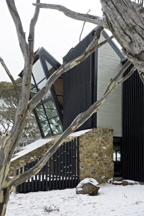 hranatý dom v Austrálii
