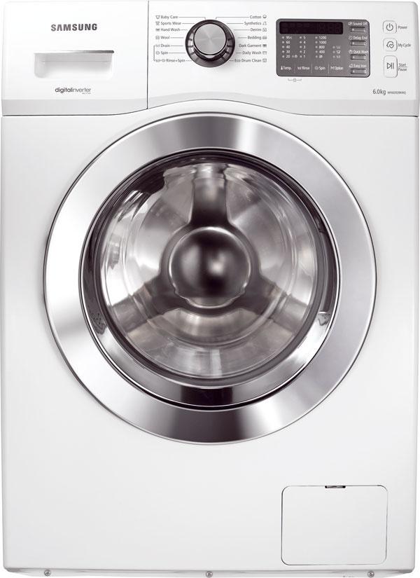 Práčka Samsung WF602B2BKWQ kapacita: 6 kg špeciálna funkcia: digitálny invertorový motor, ktorý znižuje hluk aj spotrebu energie účinnosť odstreďovania: B energetická trieda: A rozmery (š × v× h): 60 × 85 × 45 cm cena: 439 €