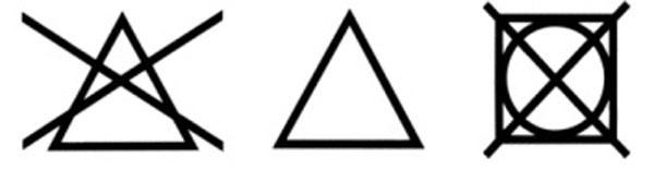 Štítok sprečiarknutým štvorcom askruhom vnútri znamená, že oblečenie nie je vhodné sušiť vsušičke.