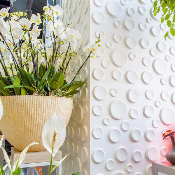Trstinová ekológia Moderné aekologicky šetrné 3D stenové panely sa vyrábajú zo zvyškov cukrovej trstiny. Bagasse, tak sa nazývajú vlákna drvených stebiel cukrovej trstiny. Suroviny použité na výrobu 3D panelov sú 100 % recyklovateľné, kompostovateľné abiologicky rozložiteľné. 25 €/ks, www.wallart.sk