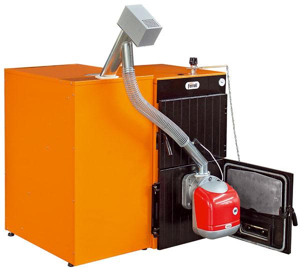 kotol Ferroli SFL  Stacionárne liatinové kotle Ferroli GFN aSFL sú optimalizované na spaľovanie tuhého paliva. Pomocou súpravy na ich prestavbu je možné nainštalovať peletový horák sautomatickou prevádzkou. Tepelný výkon kotlov sa vzávislosti od modelu pri spaľovaní dreva pohybuje od 13,9 kW vyššie.