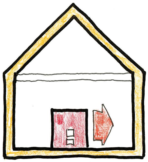 Možným riešením vnízkoenergetickom dome je veľmi ťažká akumulačná pec. Teplo sa uloží do jej plášťa, ktorý ho pomaly vydáva. Ťažkú pec potrebujeme vdome, ktorý má malú akumulačnú schopnosť.
