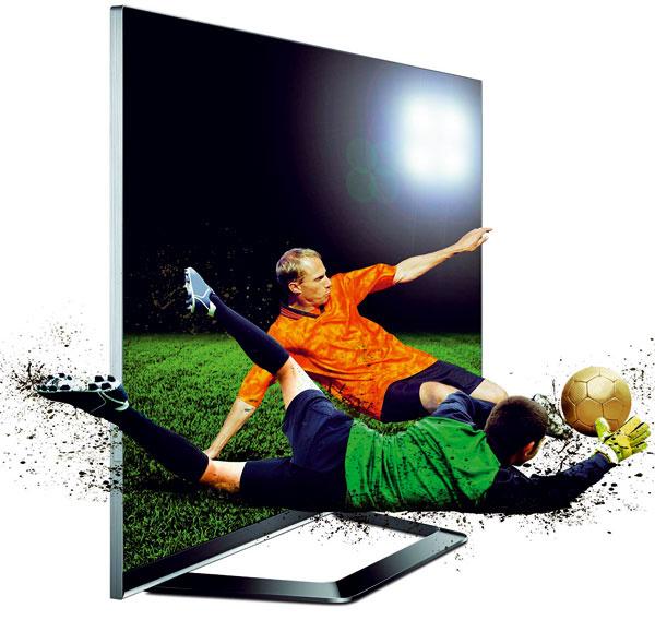 """Televízor LG Cinema 3D Smart TV skovovým rámom shrúbkou 1 mm. Model LG LED TV 55LM660S suhlopriečkou 55"""", funkcia Smart TV, internetový prehľadávač, prémiové aplikácie aApp stores. Zabudované Wi-Fi, PIP (obraz vobraze), WiDi (bezdrôtový prenos obrazu), funkcia Dual Play – hranie hier dvoch ľudí bez rozdelenia obrazovky. Pasívna 3D technológia – vokuliaroch sú sklá sopačnou polarizáciou, bez nabíjania ablikania. Cena 1490 €."""