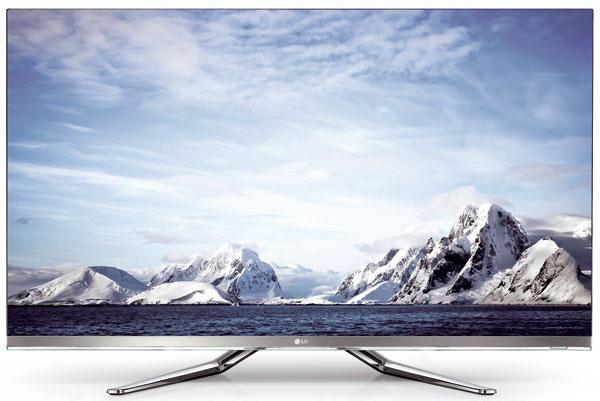 """LED televízor LG 55LM860V stechnológiou Cinema 3D Smart TV, suhlopriečkou 55"""", jednoduchšie ovládanie pomocou diaľkového ovládača Magic Remote Voice sfunkciou hlasového zadávania príkazov. Konverzia z2D na 3D, Smart TV (internetový prehľadávač, aplikácie aApp store), Wi-Fi, PIP, WiDi (bezdrôtový prenos obrazu), nahrávanie DVB-T vysielania na externý HDD, Dual Play. Cena 2380 €."""